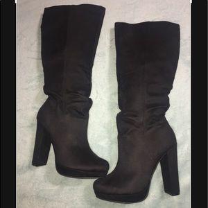 Size 8.5 Michael Antonio Black Suede Knee High